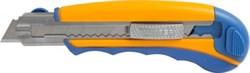 Нож c сегмент.лезв.18мм, корпус 2K, мет.напр., доп.фикс.винт, 7 лезв. LIDER