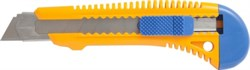 Нож c сегмент.лезв.18мм, корпус пласт., мет.напр. LIDER