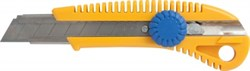 Нож c сегмент.лезв.18мм, корпус пласт., мет.напр., фикс.винт LIDER