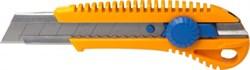 Нож с сегмент.лезв.25мм, корпус пласт., мет.напр., фикс.винт LIDER