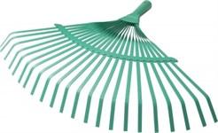 Грабли веерные плоскопроволочные, 22-зубые, для листвы, без черенка, ECOTEC