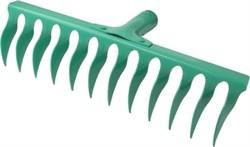 Грабли садовые, 10-зубые, дл.зубьев 80мм, ширина общая 27,5см, без черенка, ECOTEC