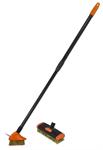 Щетка для мойки тротуарной плитки с телескопическими ручками 80-140 см, со сменной насадкой
