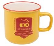 Кружка керамическая, 450 мл, серия Дрифт, желтая