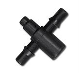 Двойник для шланга 4мм для монтажа на эмиттер или капельницу