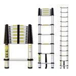 Лестница телескопическая односекционная, алюминиевая 320 см, 8 кг. STARTUL
