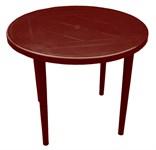 Пластиковый стол для дачи, круглый (диам 900 мм, выс 710 мм)