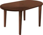 Пластиковый стол для дачи, овальный (1400x800x710 мм)