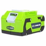 Литий-ионный аккумулятор GreenWorks G24B4 (24 В, 4.0 А*ч)