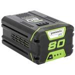 Литий-ионный аккумулятор GreenWorks G80B2 (80 В, 2.0 А*ч)
