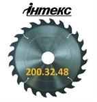 Пила дисковая ИН.01.200.32.48 (3,0/2,0) 6500 об/мин с твердосплавными пластинами