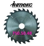 Пила дисковая ИН.01.750.50.48 мм, с твердосплавными пластинами