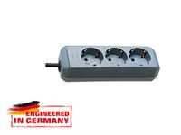 Удлинитель 1.5м (3 роз., 3.3кВт, с/з, ПВС) серебристо-серый Brennenstuhl Eco-Line (провод 3х1,5мм2; сила тока 16А; с/з)