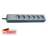 Удлинитель 1.5 м (6 роз., 3.3 кВт, с/з, ПВС) серебристо-серый Brennenstuhl Eco-Line (провод 3х1,5 мм2; сила тока 16А; с/з)