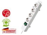 Удлинитель 2м (4 роз., 3.3кВт, с/з, выкл., ПВС) белый Brennenstuhl Comfort-Line (провод 3х1,5мм2; сила тока 16А; с/з)