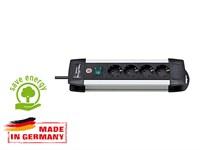 Удлинитель 1.8м (4 роз., 3.3кВт, с/з, выкл., ПВС) Brennenstuhl Premium-Alu-Line (провод 3х1,5мм2; сила тока 16А; с/з)
