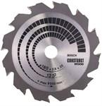 Диск пильный 160х20/16 мм 12 зуб. по дереву CONSTRUCT WOOD BOSCH (переменный зуб)