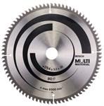 Диск пильный 254х30 мм, 80 зубов, универсальный MULTIMATERIAL BOSCH (твердоспл. зуб)