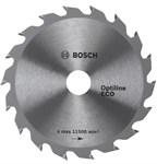 Диск пильный 150х20/16 мм, 18 зуб. по дереву OPTILINE ECO WOOD BOSCH (твердоспл. зуб)