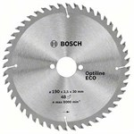 Диск пильный 190х30 мм, 48 зуб. по дереву OPTILINE ECO WOOD BOSCH (твердоспл. зуб)