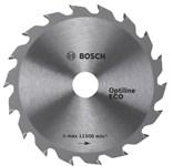 Диск пильный 254х30 мм 80 зуб. по дереву OPTILINE ECO WOOD BOSCH (твердоспл. зуб)