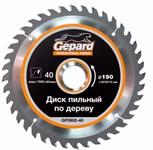 Диск пильный 190х30/20/16 мм 40 зуб. по дереву GEPARD (твердоспл. зуб)