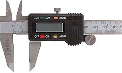 Штангенциркуль 200 мм, цифровой, метрич. и дюймовая шкала, точность 0,02 мм KERN