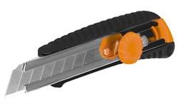 Нож строительный с крутящимся фиксатором 1208, 18 мм, ЦентроИнструмент