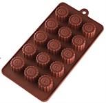 Форма силиконовая, прямоугольная на 15 элементов, 22 х 11.2 х 2 см, PERFECTO LINEA