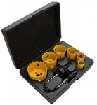 Набор коронок биметаллических 22-64 мм, глуб. 38 мм, HSS M3 KERN (набор/9 шт)