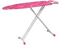 Доска гладильная LUX розовая (металл 1100*330) подставка п/утюг, PERFECTO LINEA