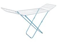 Сушилка для белья напольная складная, 18 м, 180*50*90, серия Bona, бело-голубая, PERFECTO LINEA