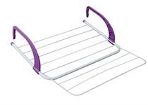 Сушилка для белья навесная, 5 м, 51*50*13, серия Optima Plus, бело-фиолетовая, PERFECTO LINEA