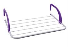 Сушилка для белья навесная, 3 м, 51*33*13, серия Optima, бело-фиолетовая, PERFECTO LINEA