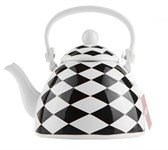 Чайник стальной эмалированный, 1.5 л, серия Черный диамонд GEIST
