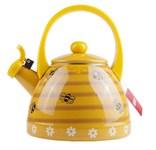 Чайник стальной эмалированный, 2.0 л, серия Медовые соты GEIST