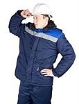 """Куртка утепленная с капюшоном """"Бригадир"""" все размеры (синяя-василек)"""