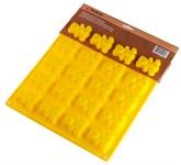 Форма для выпечки Мишка, силиконовая, прямоугольная на 20 элементов, 30 х 29 х 2 см, PERFECTO LINEA