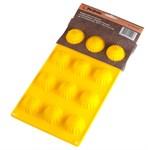 Форма для выпечки Смайлик-солнышко, силиконовая, прямоугольная на 12 элементов, 28,5 х 16,3 х 2,5 см, PERFECTO LINEA