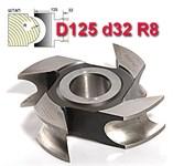 Фреза штап (затыл. радиусная) ДФ-10.125.32.08 Р6М5