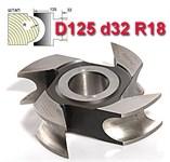 Фреза штап (затыл. радиусная) ДФ-10.125.32.18 Р6М5