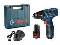 Аккумуляторный дрель-шуруповерт BOSCH GSR 120-LI в чем. (12.0 В, 2 акк., 1.5 А/ч Li-Ion, 2 скор., 30 Нм, шурупы до 7 мм)