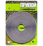 Припой ПОС 61 трубка, спираль ф 1,5 мм, длина 1 м, с канифолью, Векта