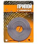 Припой ПОС 61 трубка, спираль ф 1 мм, длина 1 м, с канифолью, Векта