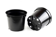 Горшок для рассады D 13 см (высота 10,4 см, объем 1 л) литой