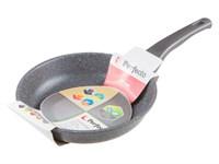 Сковорода 24х5,5 см для индукционных плит, серия Grey, PERFECTO LINEA