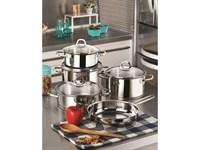 Сковорода 24х6 см, из нержавеющей стали, для любых типов плит, серия Rio Metal, HISAR