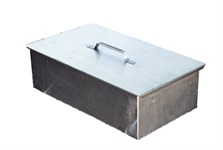 Коптильня 2-ярусная с поддоном (380х280х170 мм, сталь 0,8мм)