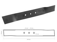Нож прямой для газонокосилки бензиновой ECO 45см (18 дюймов) (46350001)