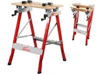Верстак складной WORTEX WB 6080 P (60,5x64x80 см, складной, регулировка столешницы 0-90°, бамбук.стол)